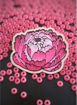"""BROOCH """"GORGEOUS PINK PEONY"""""""