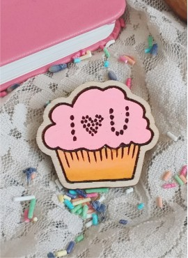 """BROOCH """"STRAWBERRY CAKE WITH CONFESSION"""""""