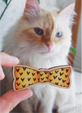"""BROOCH """"YELLOW BOW TIE"""""""