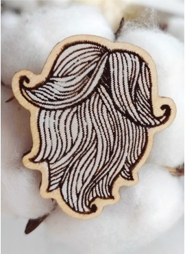 "BROOCH ""WHITE BEARD"""