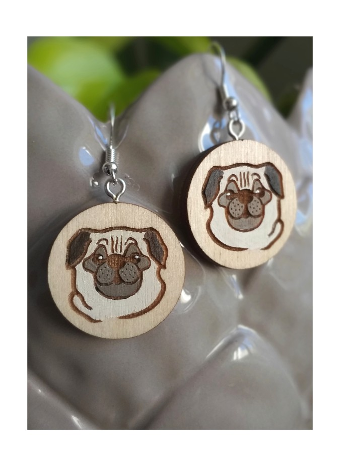 "EARRINGS  ""PUG"""
