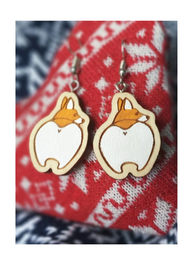 "EARRINGS  ""WELSH CORGI"""