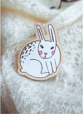 """BROOCH """"WHITE HARE"""""""